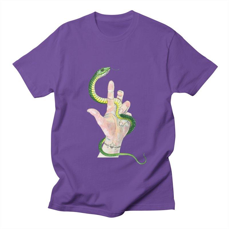 Snake Handler Women's Regular Unisex T-Shirt by mwashburnart's Artist Shop