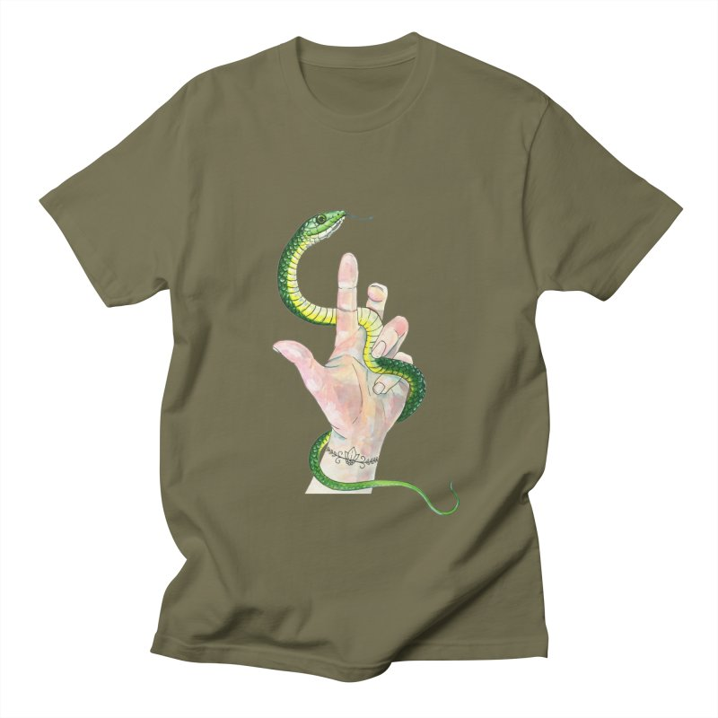 Snake Handler Women's Regular Unisex T-Shirt by mwashburnart's Artist Shop