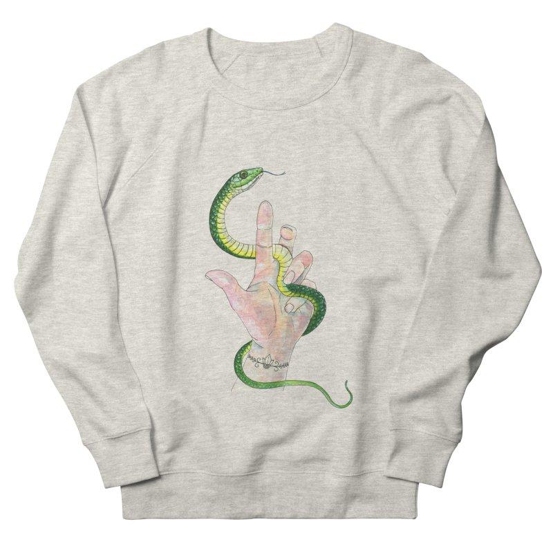Snake Handler Men's French Terry Sweatshirt by mwashburnart's Artist Shop