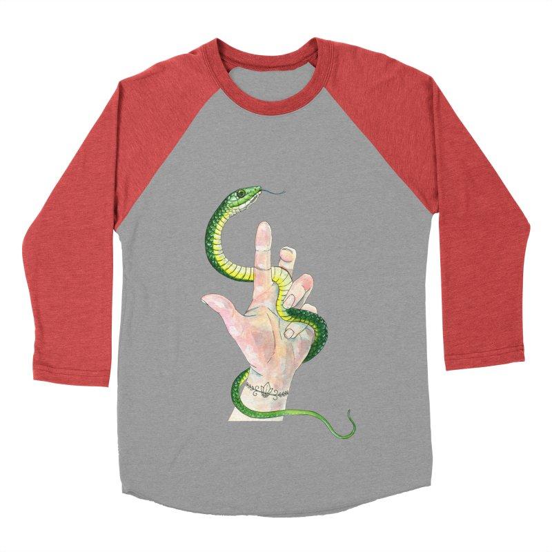 Snake Handler Women's Baseball Triblend Longsleeve T-Shirt by mwashburnart's Artist Shop