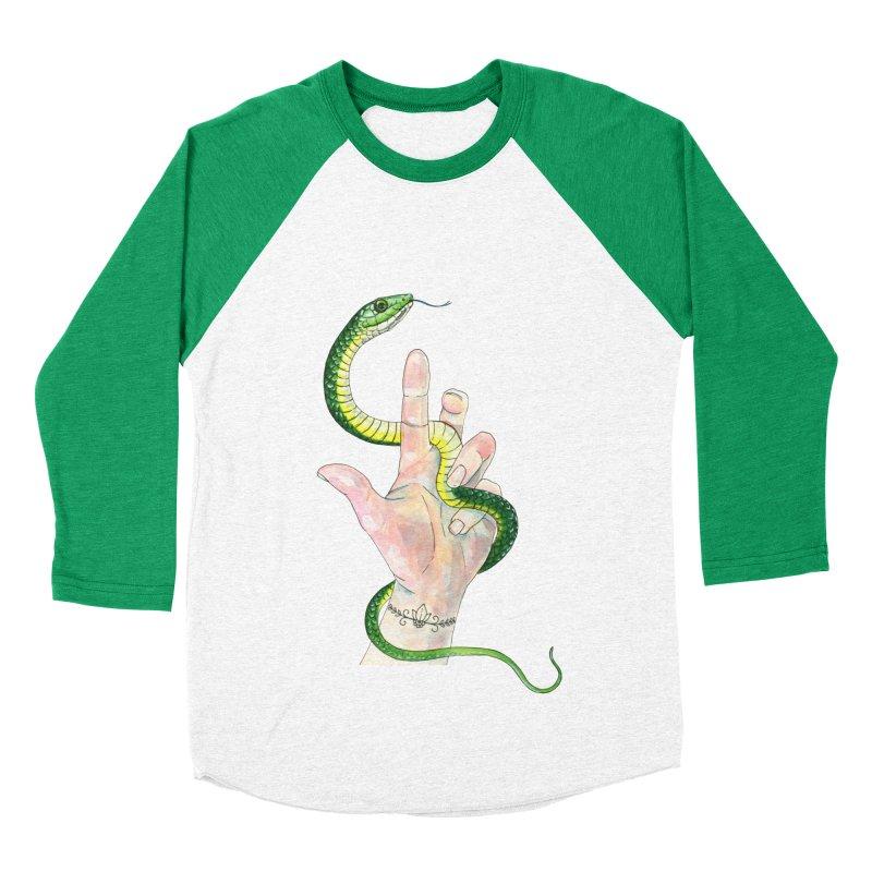 Snake Handler Men's Baseball Triblend Longsleeve T-Shirt by mwashburnart's Artist Shop