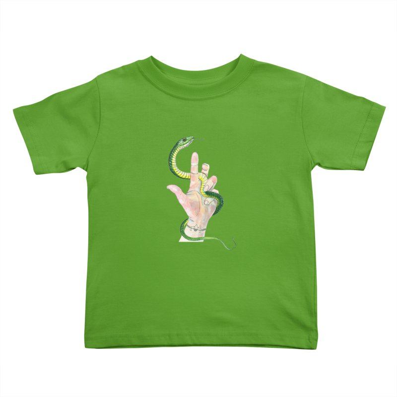 Snake Handler Kids Toddler T-Shirt by mwashburnart's Artist Shop