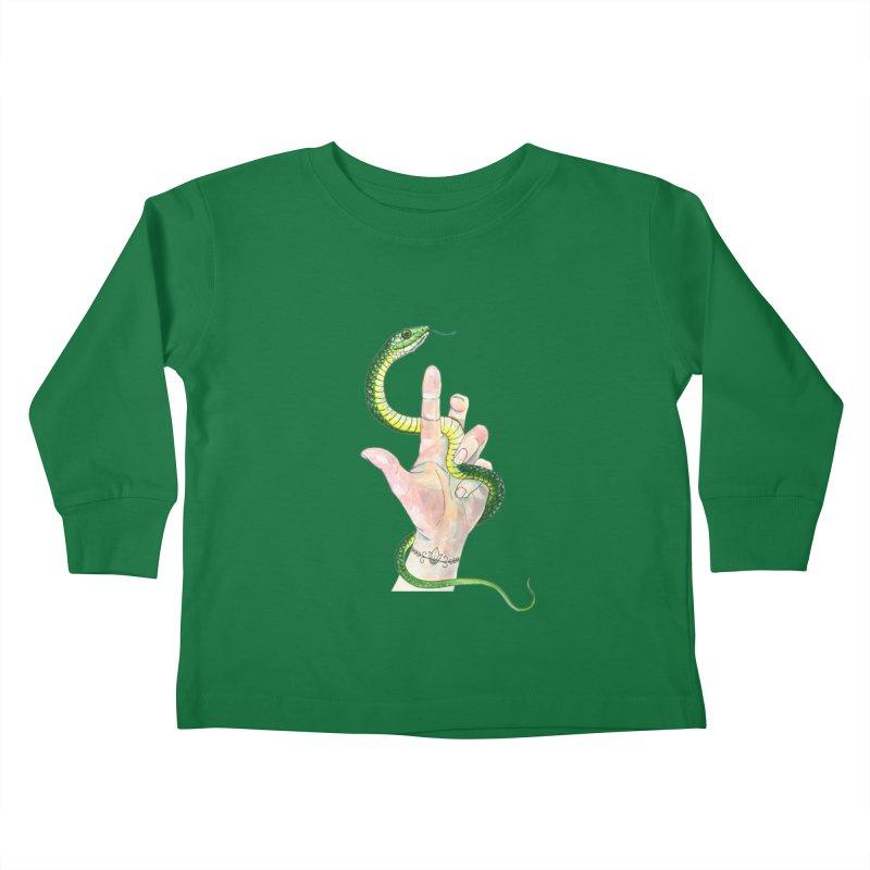 Snake Handler Kids Toddler Longsleeve T-Shirt by mwashburnart's Artist Shop