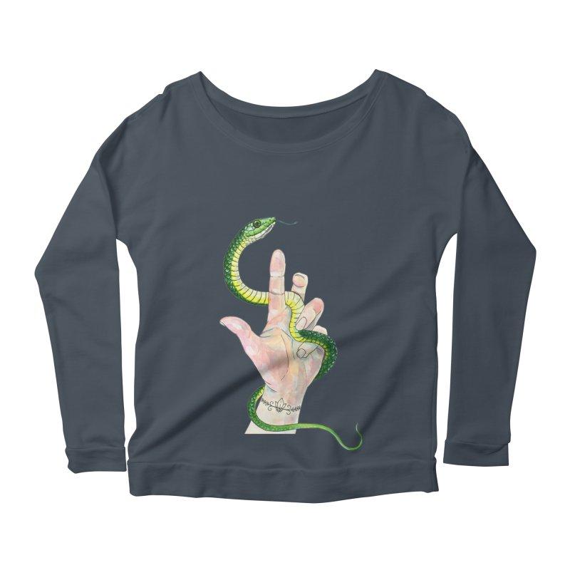 Snake Handler Women's Scoop Neck Longsleeve T-Shirt by mwashburnart's Artist Shop