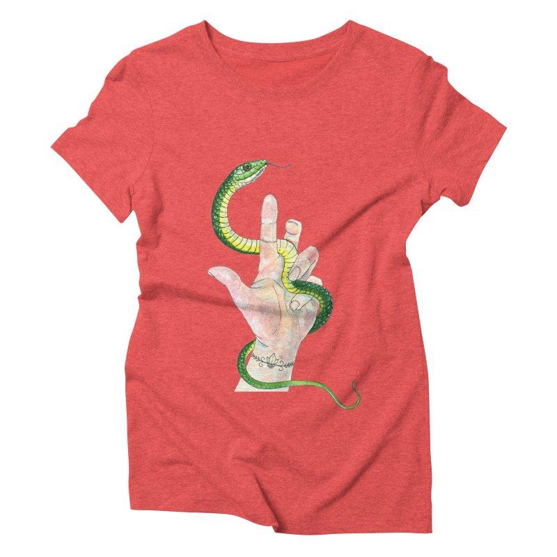 Snake Handler Women's Triblend T-Shirt by mwashburnart's Artist Shop