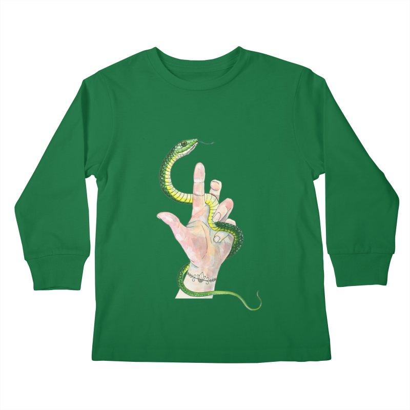 Snake Handler Kids Longsleeve T-Shirt by mwashburnart's Artist Shop