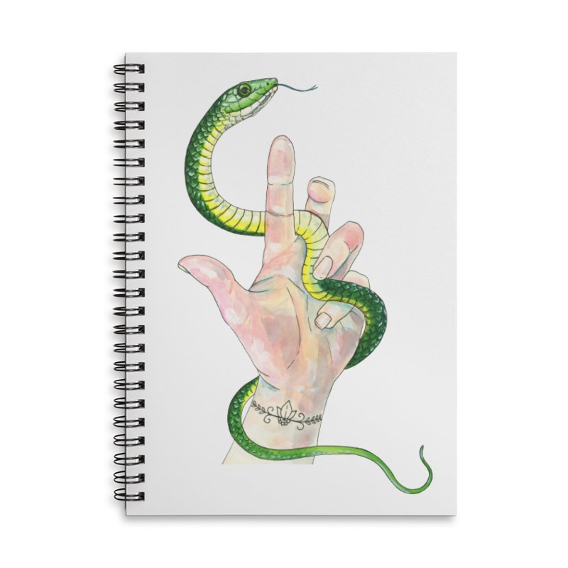Snake Handler Accessories Lined Spiral Notebook by mwashburnart's Artist Shop