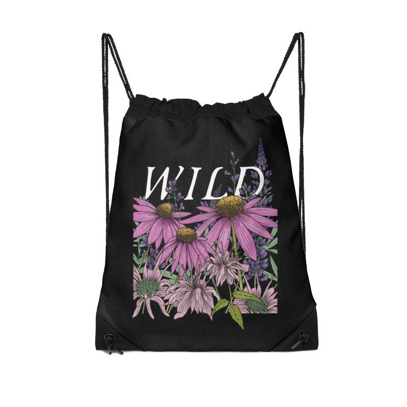 WILD Accessories Drawstring Bag Bag by mwashburnart's Artist Shop
