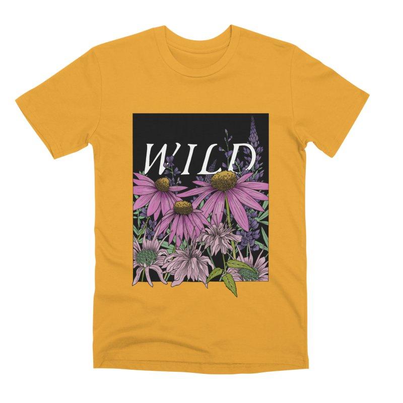 WILD Men's Premium T-Shirt by mwashburnart's Artist Shop