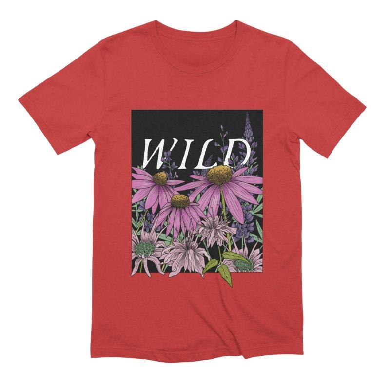 WILD Men's Extra Soft T-Shirt by mwashburnart's Artist Shop
