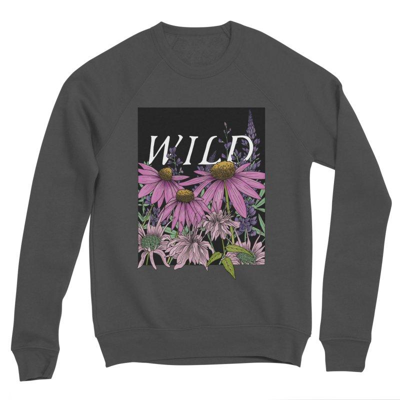 WILD Men's Sponge Fleece Sweatshirt by mwashburnart's Artist Shop
