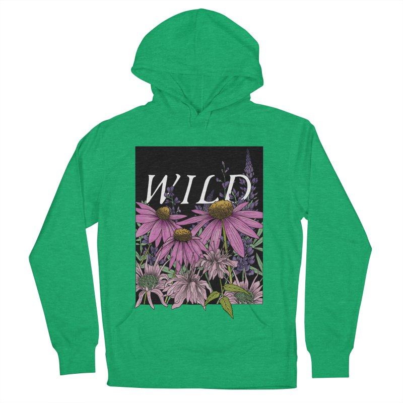 WILD Women's French Terry Pullover Hoody by mwashburnart's Artist Shop