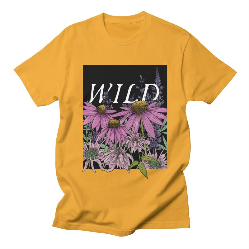 WILD Men's Regular T-Shirt by mwashburnart's Artist Shop