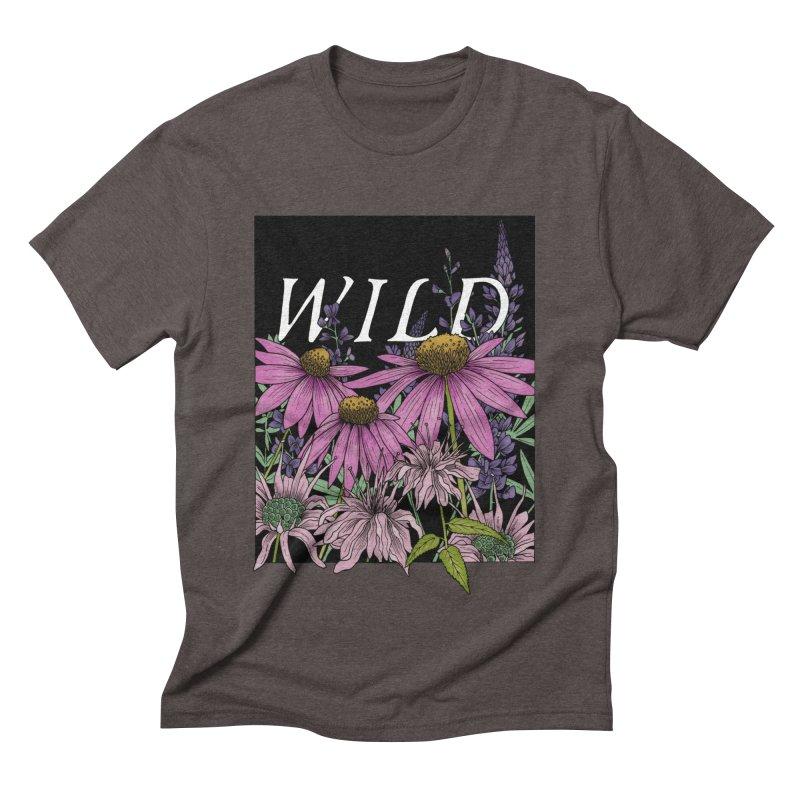 WILD Men's Triblend T-Shirt by mwashburnart's Artist Shop