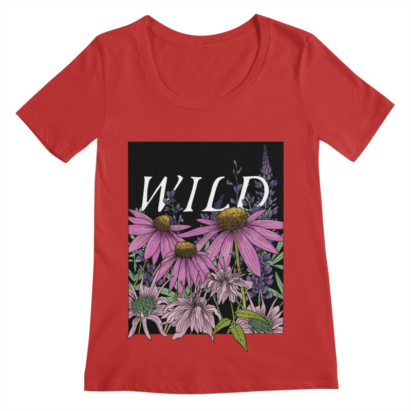 WILD Women's Regular Scoop Neck by mwashburnart's Artist Shop