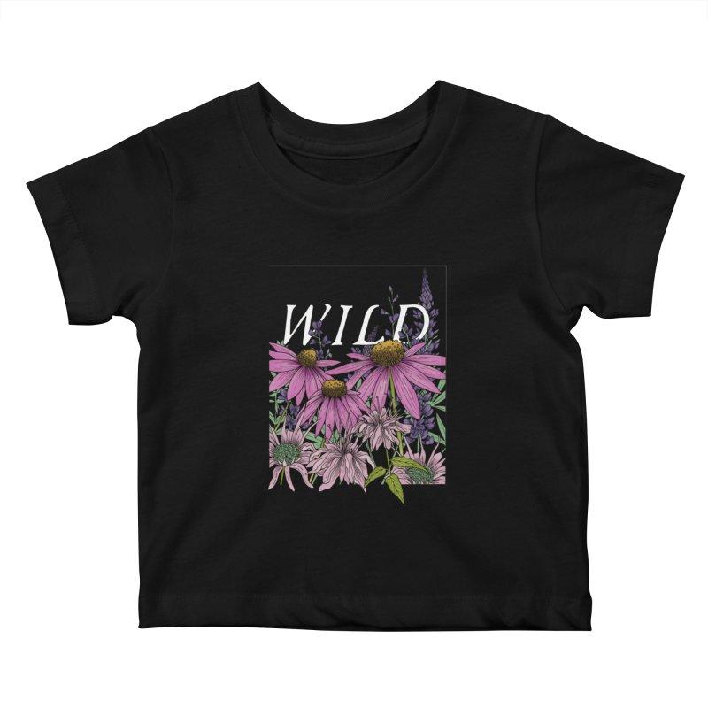 WILD Kids Baby T-Shirt by mwashburnart's Artist Shop