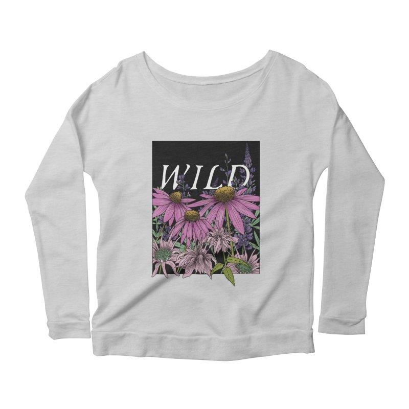 WILD Women's Scoop Neck Longsleeve T-Shirt by mwashburnart's Artist Shop