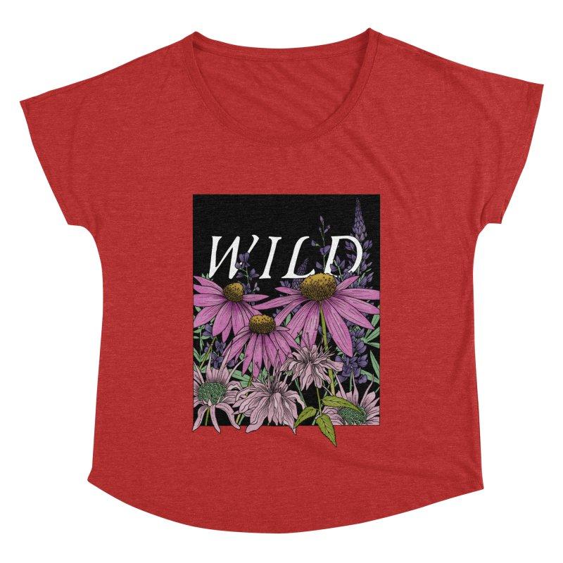 WILD Women's Dolman Scoop Neck by mwashburnart's Artist Shop