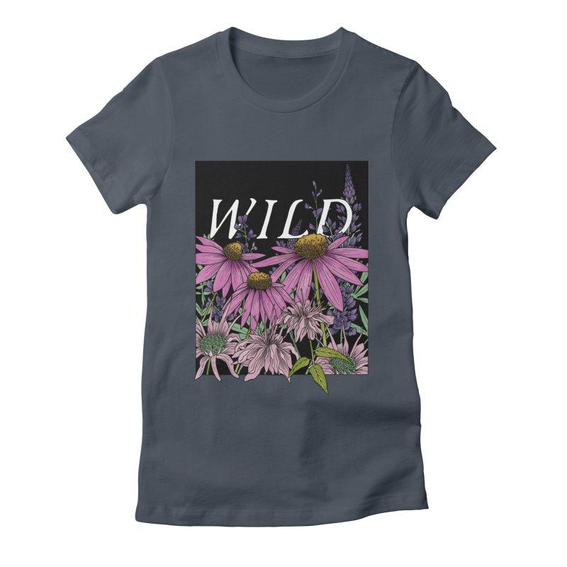WILD Women's T-Shirt by mwashburnart's Artist Shop