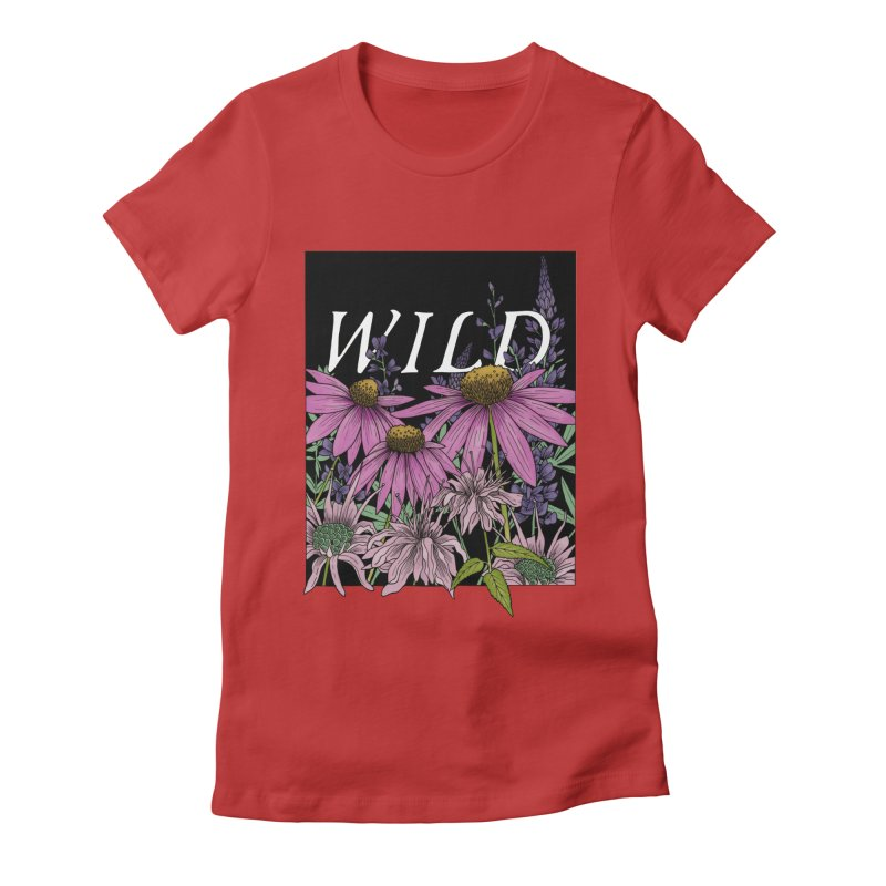 WILD Women's Fitted T-Shirt by mwashburnart's Artist Shop