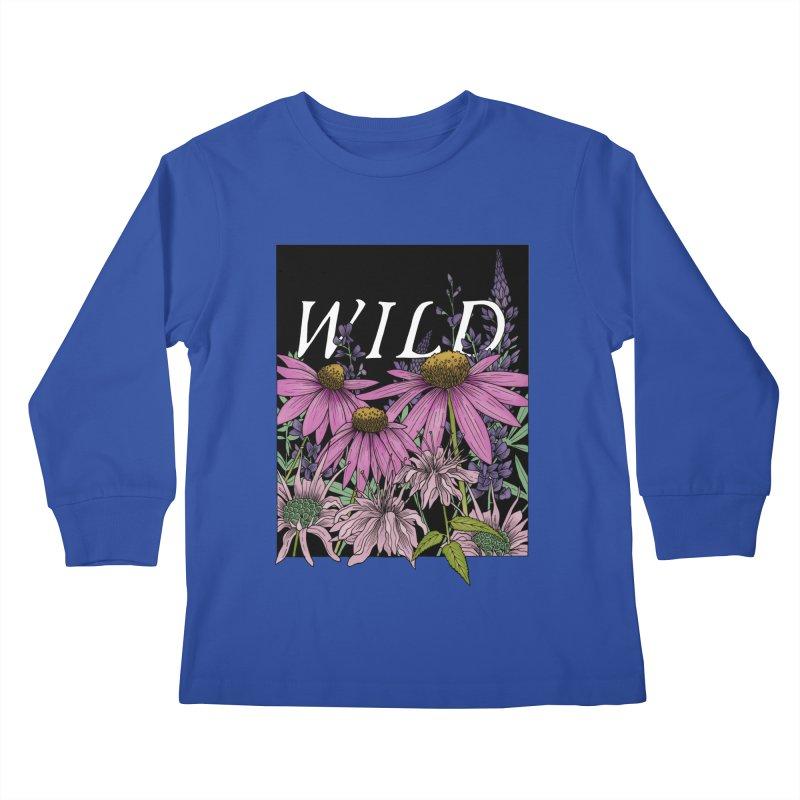 WILD Kids Longsleeve T-Shirt by mwashburnart's Artist Shop