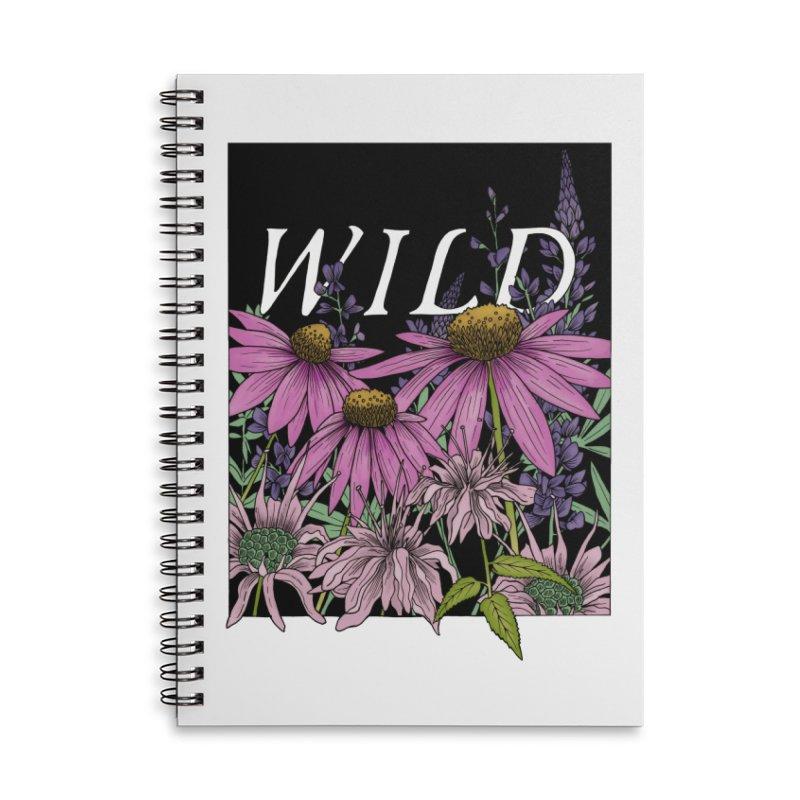 WILD Accessories Lined Spiral Notebook by mwashburnart's Artist Shop