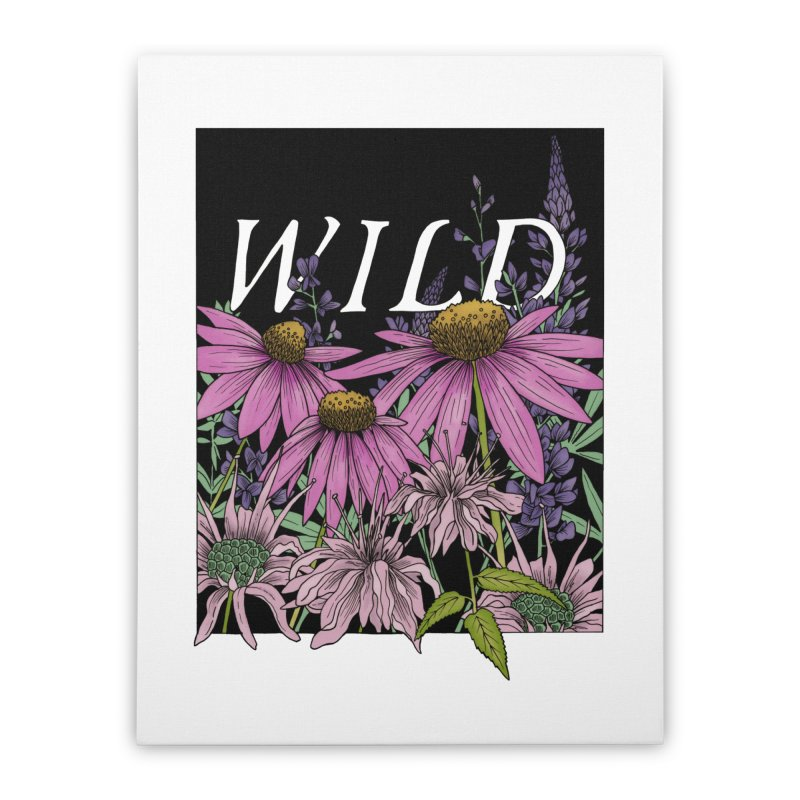 WILD Home Stretched Canvas by mwashburnart's Artist Shop