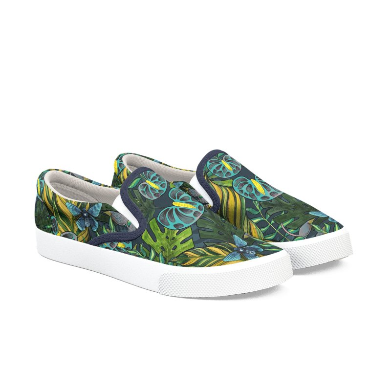 Tropicana Blues Shoes Men's Slip-On Shoes by mwashburnart's Artist Shop