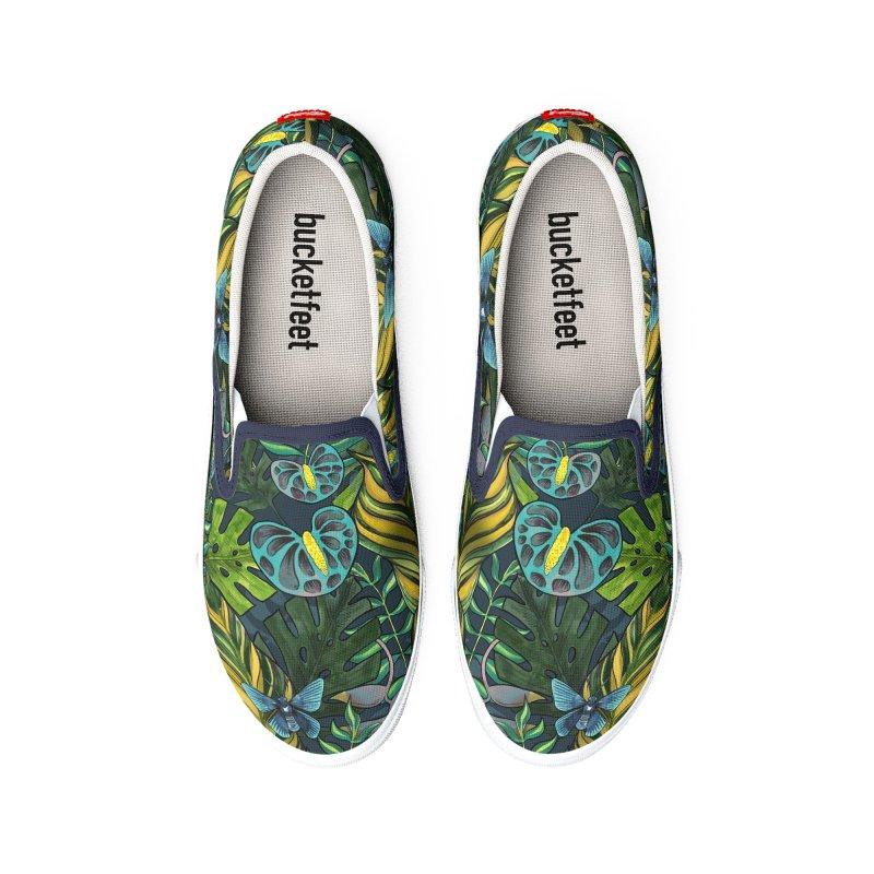 Tropicana Blues Shoes Men's Shoes by mwashburnart's Artist Shop