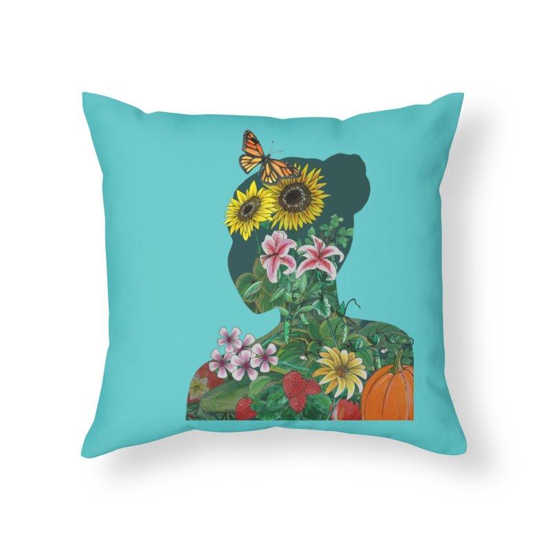 GROW Home Throw Pillow by mwashburnart's Artist Shop