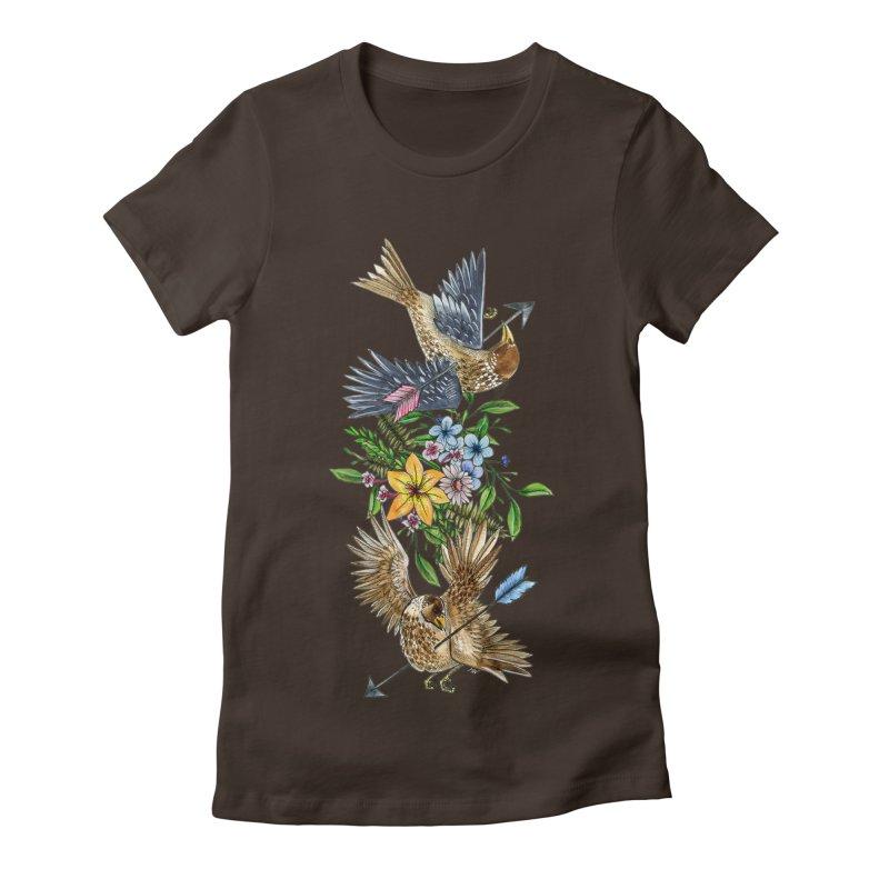 Kill the Messengers Women's Fitted T-Shirt by mwashburnart's Artist Shop