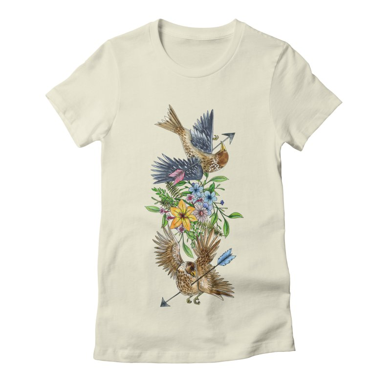 Kill the Messengers in Women's Fitted T-Shirt Natural by mwashburnart's Artist Shop