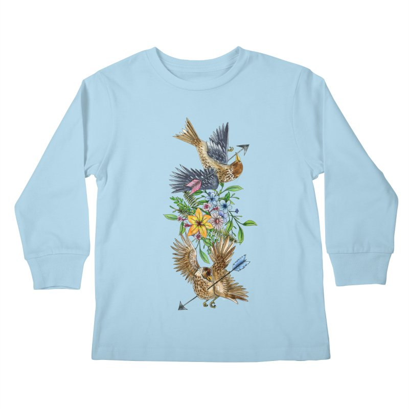 Kill the Messengers Kids Longsleeve T-Shirt by mwashburnart's Artist Shop