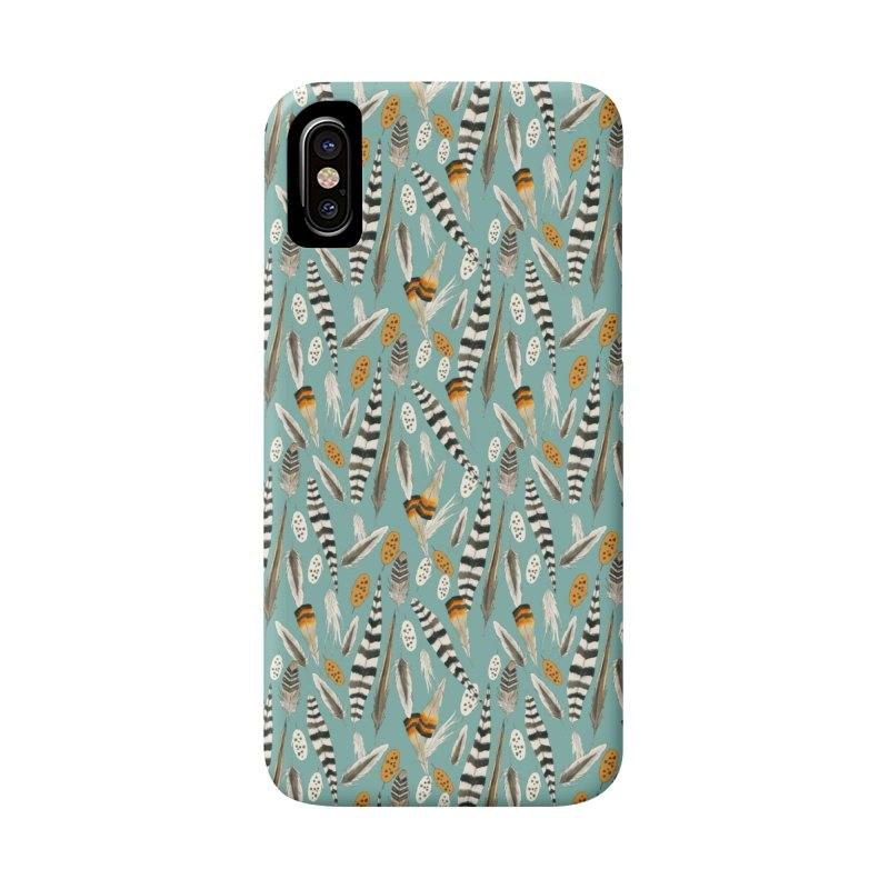 Feathers Repeat Accessories Phone Case by mwashburnart's Artist Shop