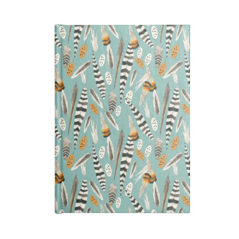 Feathers Repeat Accessories Notebook by mwashburnart's Artist Shop