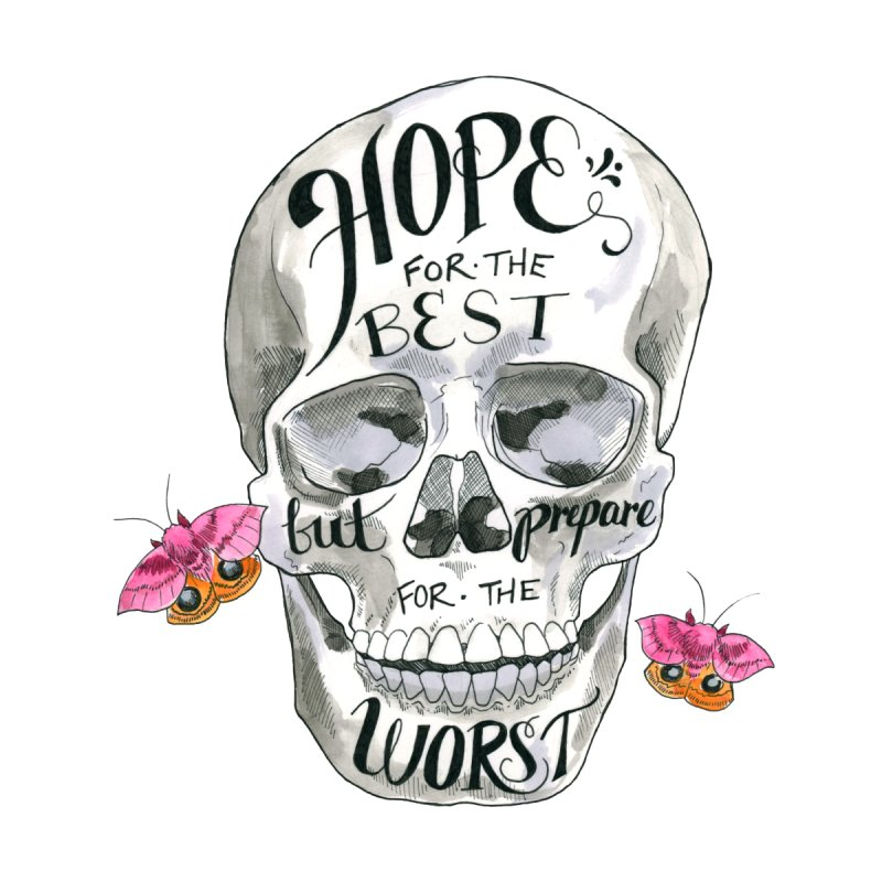 Hope for the Best Home Shower Curtain by mwashburnart's Artist Shop