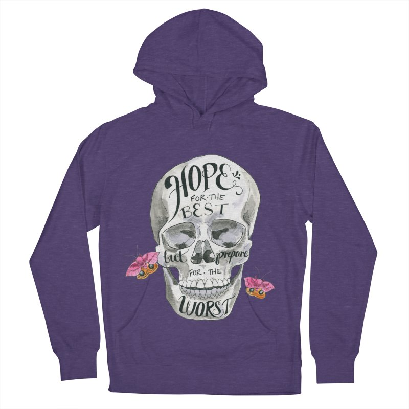 Hope for the Best Women's French Terry Pullover Hoody by mwashburnart's Artist Shop