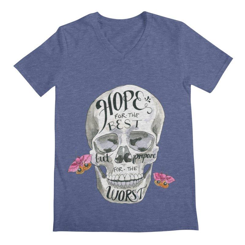 Hope for the Best Men's Regular V-Neck by mwashburnart's Artist Shop
