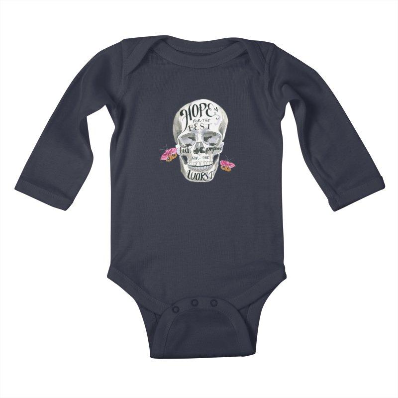 Hope for the Best Kids Baby Longsleeve Bodysuit by mwashburnart's Artist Shop