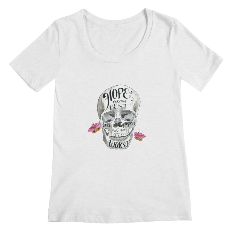 Hope for the Best Women's Regular Scoop Neck by mwashburnart's Artist Shop