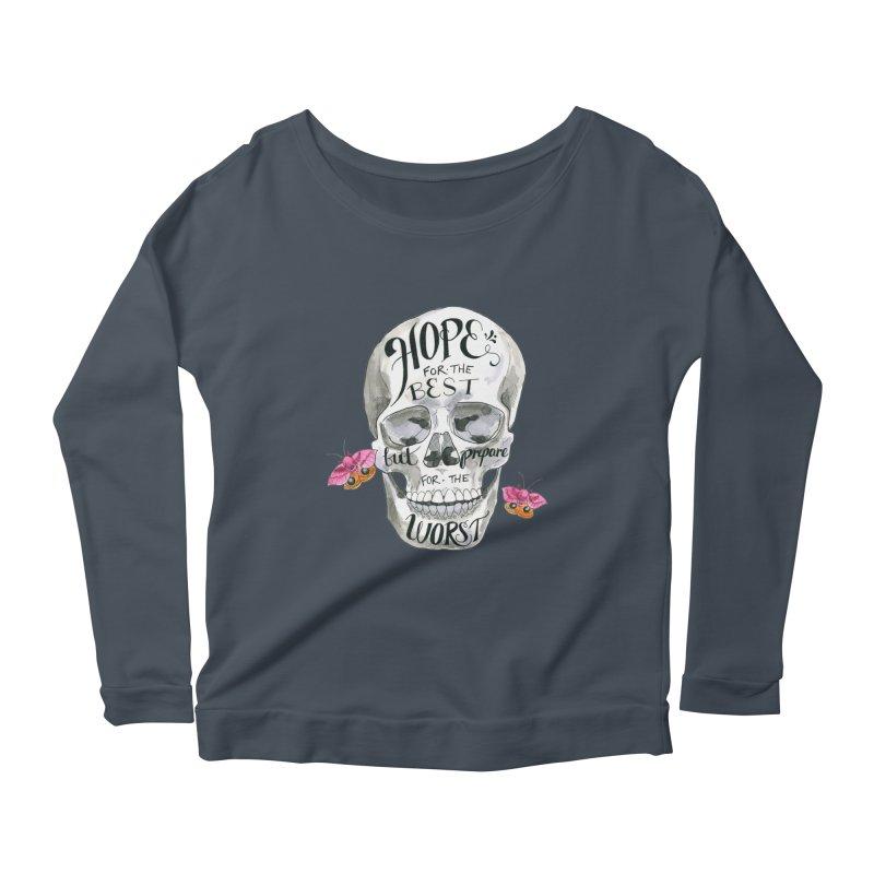 Hope for the Best Women's Scoop Neck Longsleeve T-Shirt by mwashburnart's Artist Shop