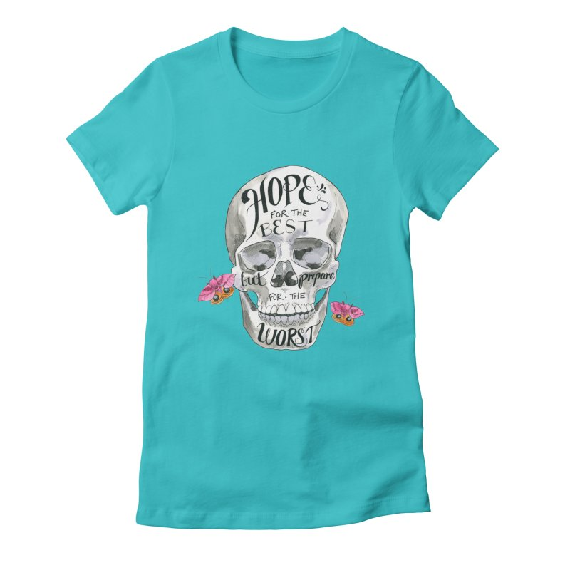 Hope for the Best Women's Fitted T-Shirt by mwashburnart's Artist Shop