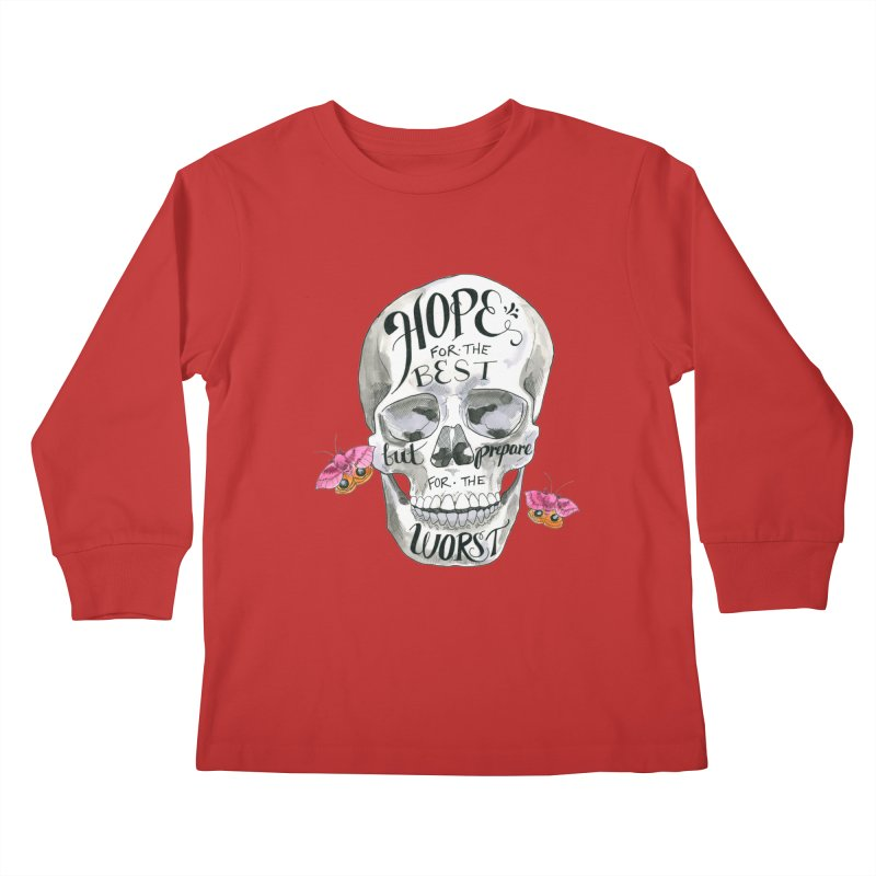 Hope for the Best Kids Longsleeve T-Shirt by mwashburnart's Artist Shop