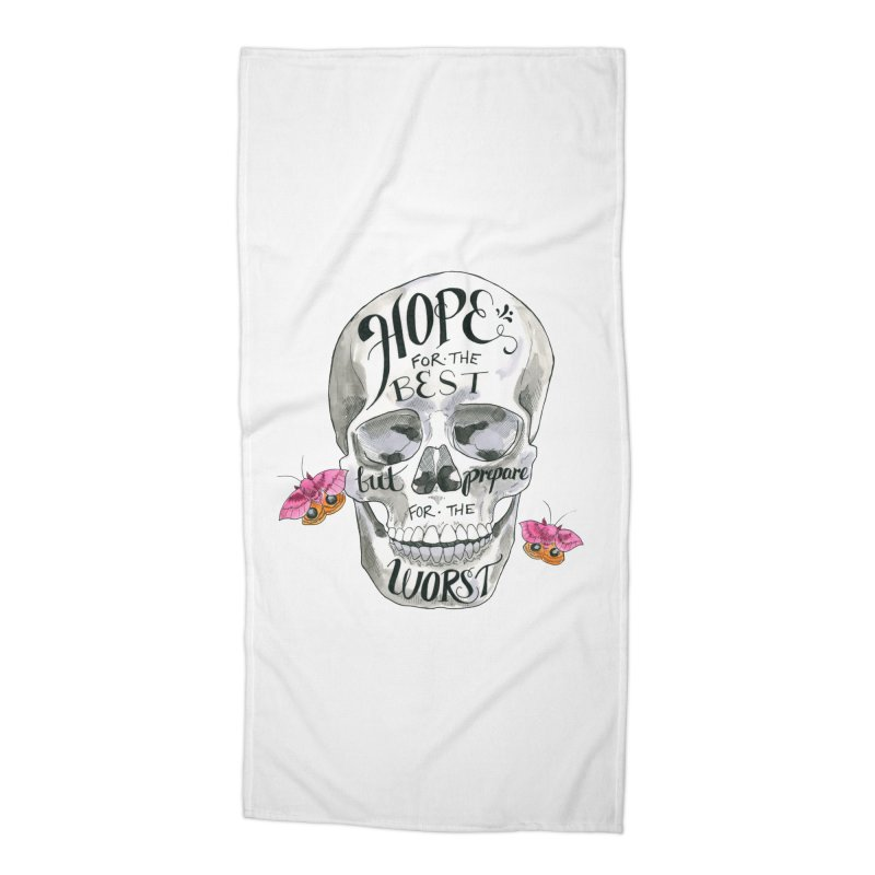 Hope for the Best Accessories Beach Towel by mwashburnart's Artist Shop