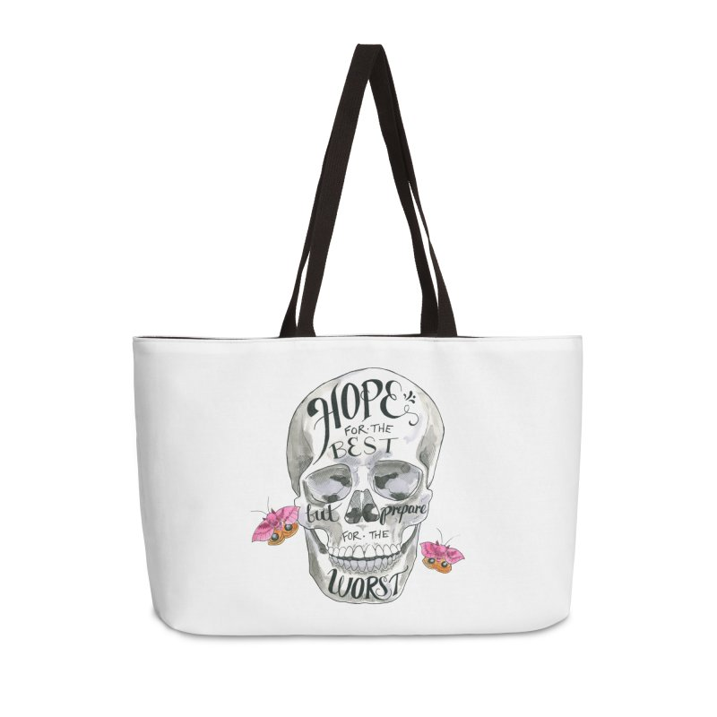 Hope for the Best Accessories Weekender Bag Bag by mwashburnart's Artist Shop