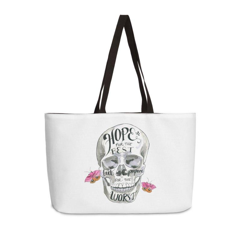 Hope for the Best Accessories Weekender Bag Bag by mwashburnart's Artist Shop