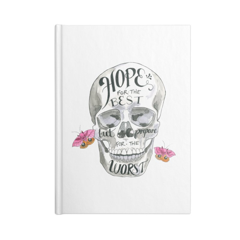 Hope for the Best Accessories Lined Journal Notebook by mwashburnart's Artist Shop