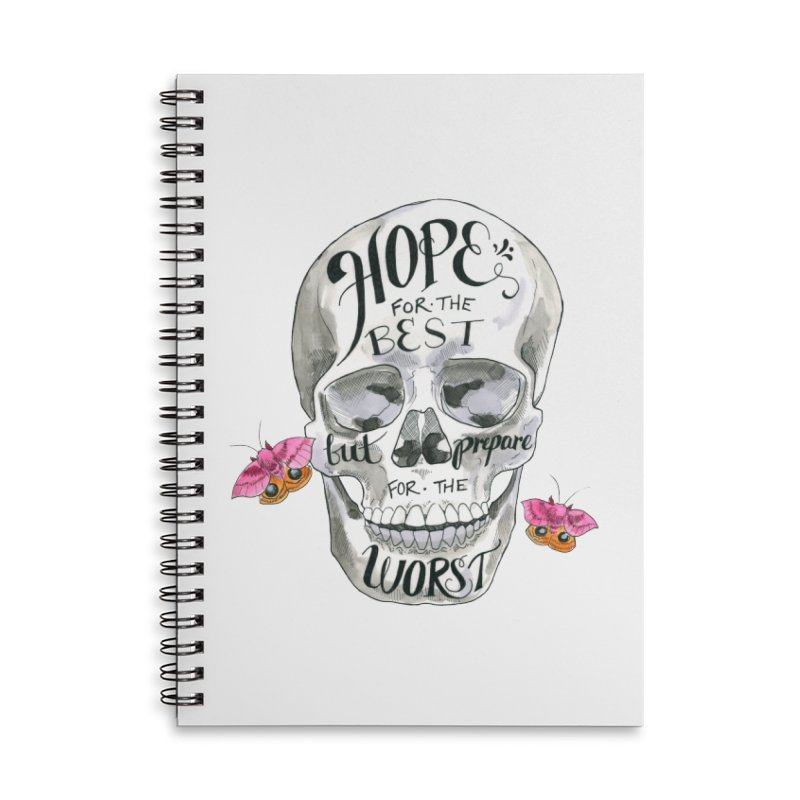Hope for the Best Accessories Lined Spiral Notebook by mwashburnart's Artist Shop