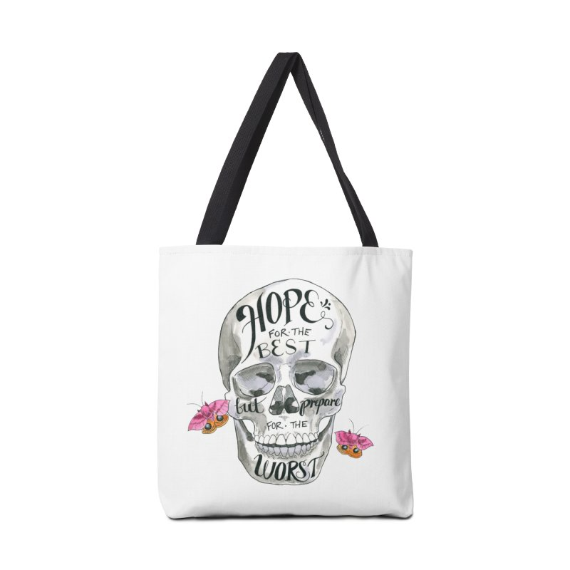 Hope for the Best Accessories Bag by mwashburnart's Artist Shop