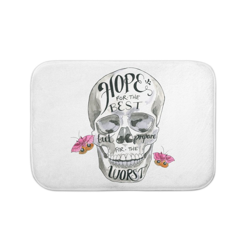 Hope for the Best Home Bath Mat by mwashburnart's Artist Shop